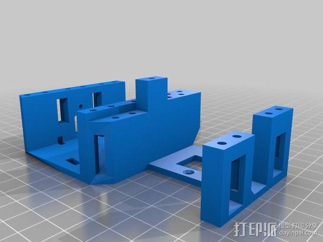 InMoov简易伺服床 3D模型  图8