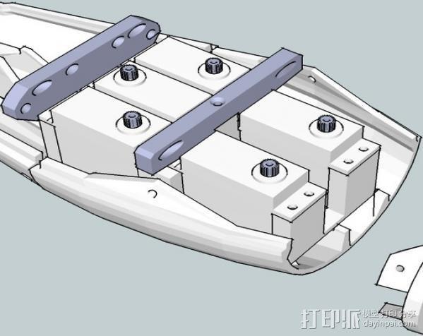 InMoov简易伺服床 3D模型  图12