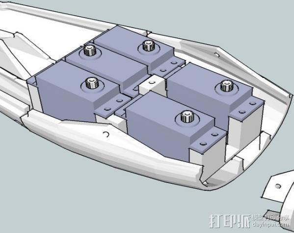 InMoov简易伺服床 3D模型  图11
