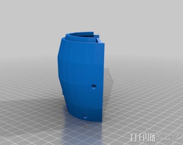 InMoov简易伺服床 3D模型  图14