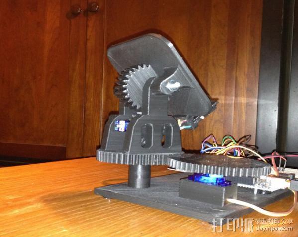 双轴太阳能追踪器 3D模型  图2