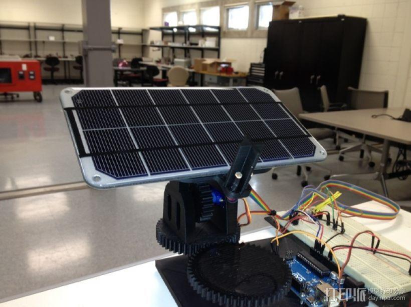 双轴太阳能追踪器 3D模型  图1