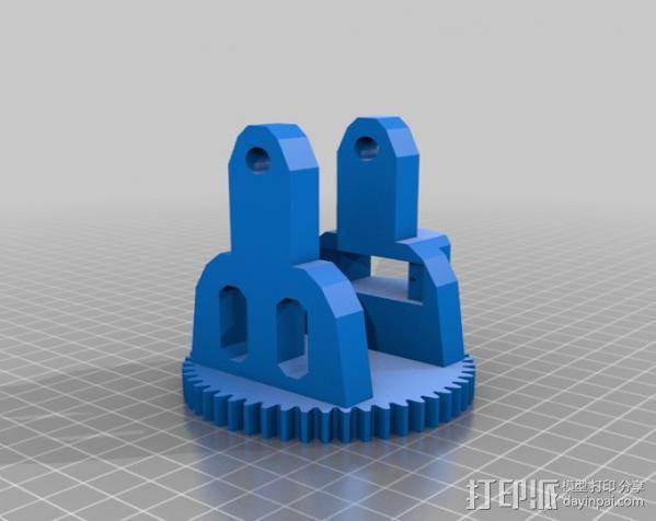 双轴太阳能追踪器 3D模型  图5