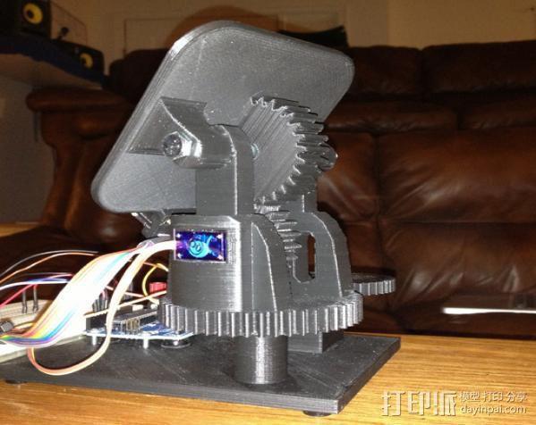 双轴太阳能追踪器 3D模型  图4