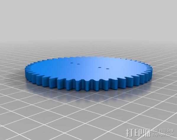 双轴太阳能追踪器 3D模型  图7