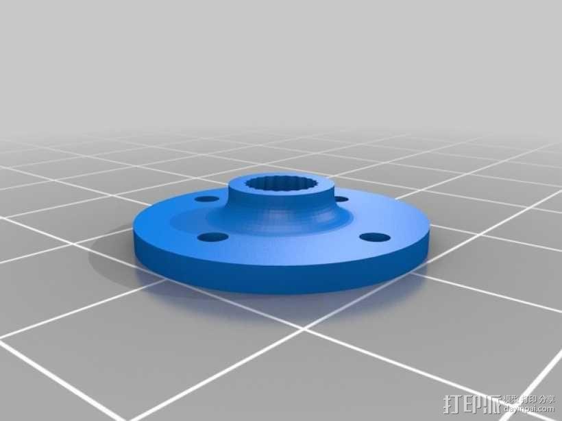 模块化防昆虫机器人伺服器 支架 3D模型  图1
