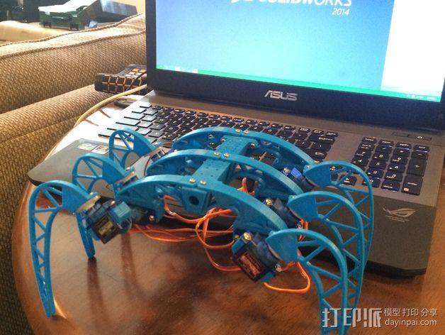 模块化防昆虫机器人伺服器 支架 3D模型  图2