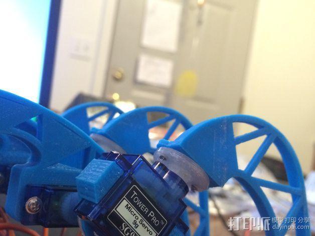 模块化防昆虫机器人伺服器 支架 3D模型  图3