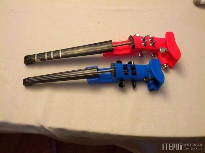 1:16电子小提琴  3D模型  图4
