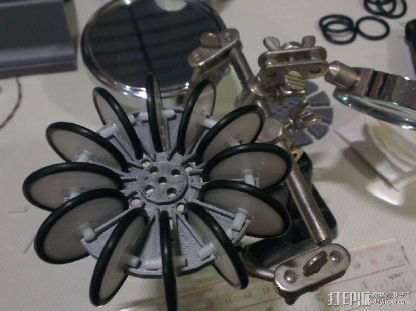 通用全向轮 3D模型  图5