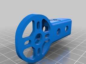 多杆马达固定槽 3D模型