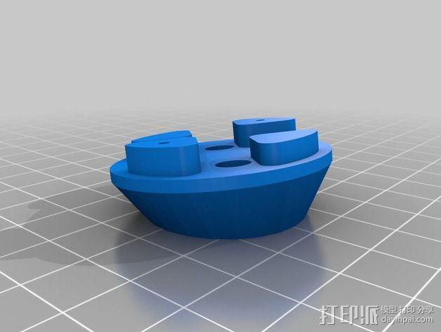 马达固定槽 3D模型  图2