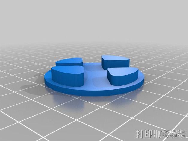 马达固定槽 3D模型  图8