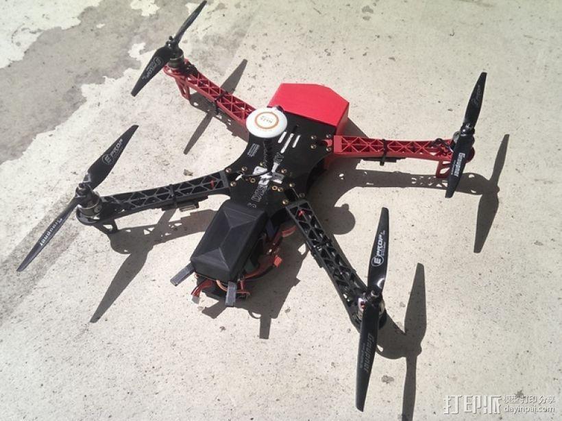 四轴飞行器接收装置外壳 3D模型  图3