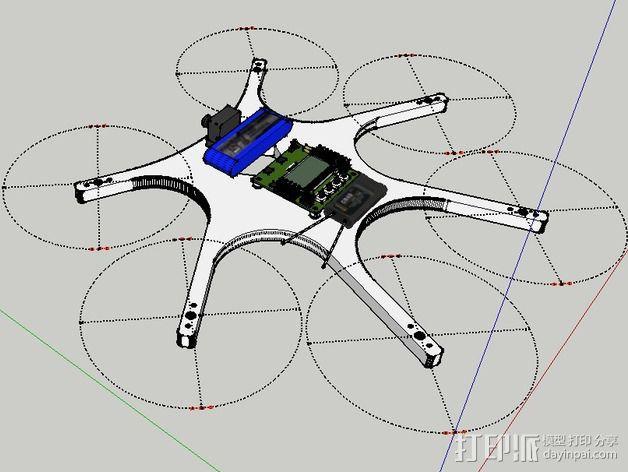 迷你六旋翼 3D模型  图9