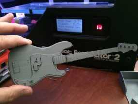 贝斯吉他 3D模型