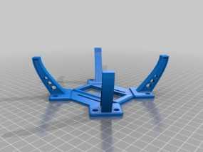 F450中央起落架 3D模型