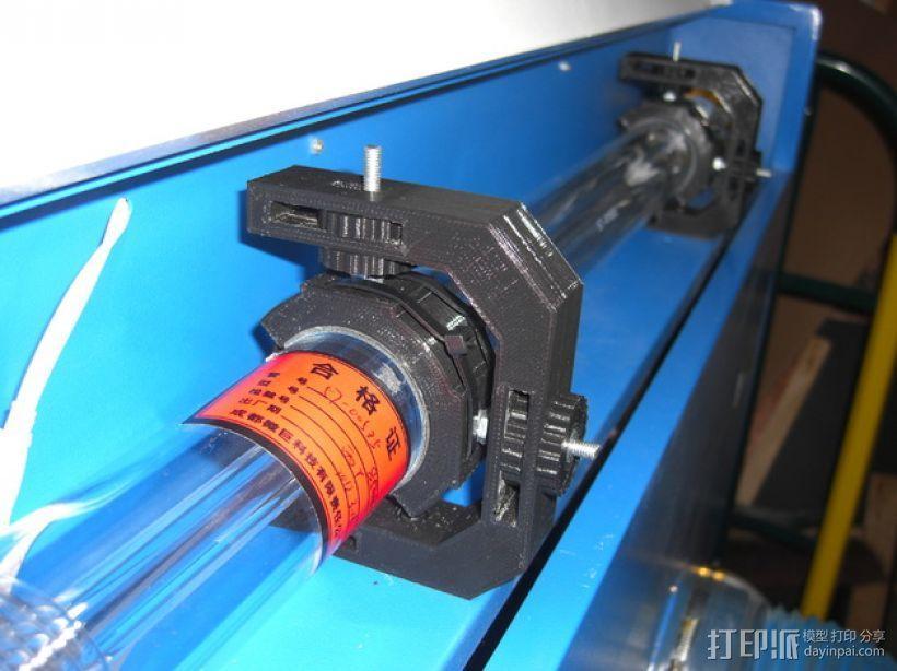 激光切割机 吊管架  3D模型  图1