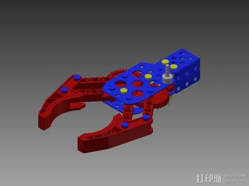 Vex机械爪 3D模型  图1