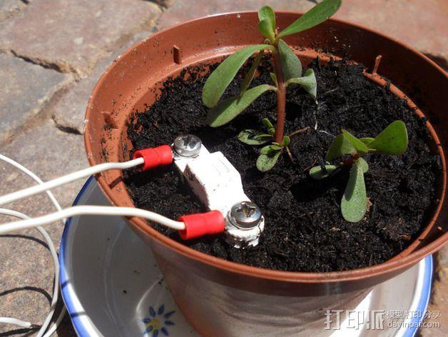 土壤水分传感器  3D模型  图4