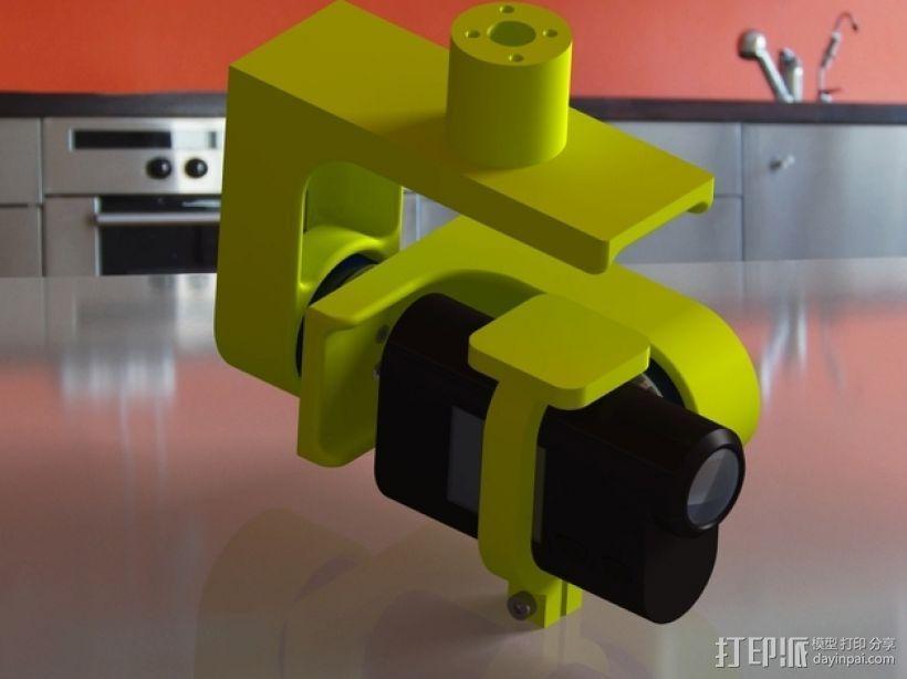 索尼HDR-AS15摄像机 平衡环 3D模型  图1