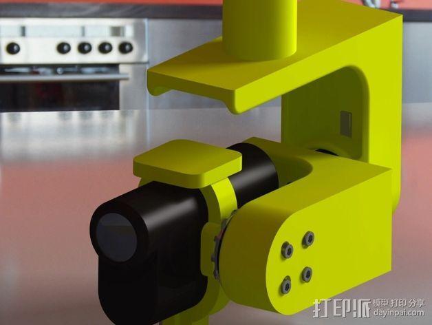 索尼HDR-AS15摄像机 平衡环 3D模型  图2
