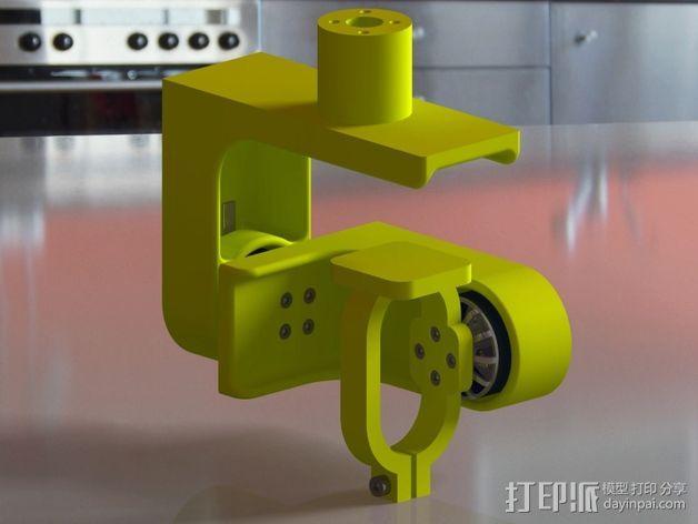 索尼HDR-AS15摄像机 平衡环 3D模型  图3