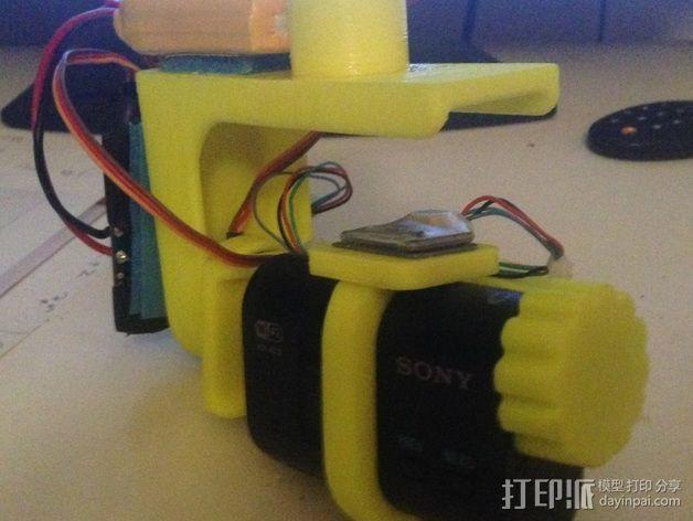 索尼HDR-AS15摄像机 平衡环 3D模型  图4