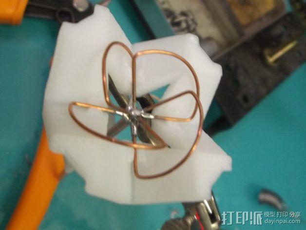 视频发射机天线夹具 3D模型  图3