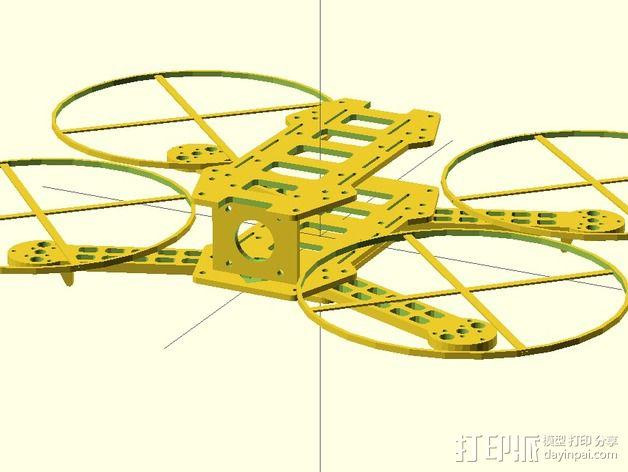 迷你FPV四轴飞行器 3D模型  图5