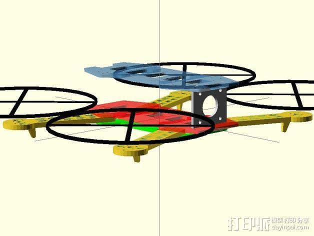 迷你FPV四轴飞行器 3D模型  图6
