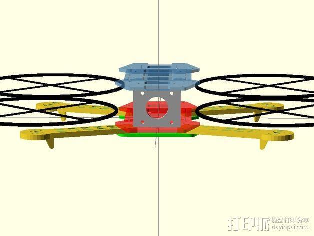 迷你FPV四轴飞行器 3D模型  图7