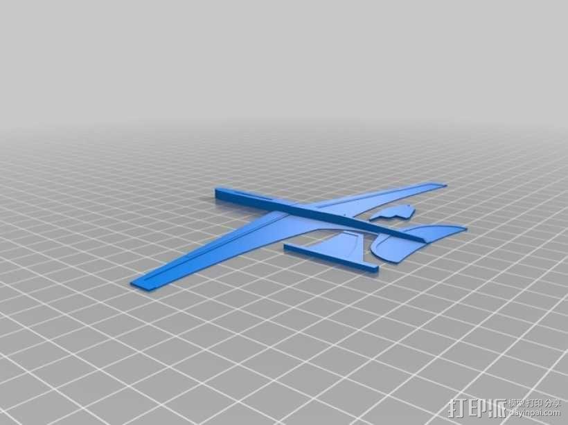 """""""山雀""""滑翔机 3D模型  图3"""