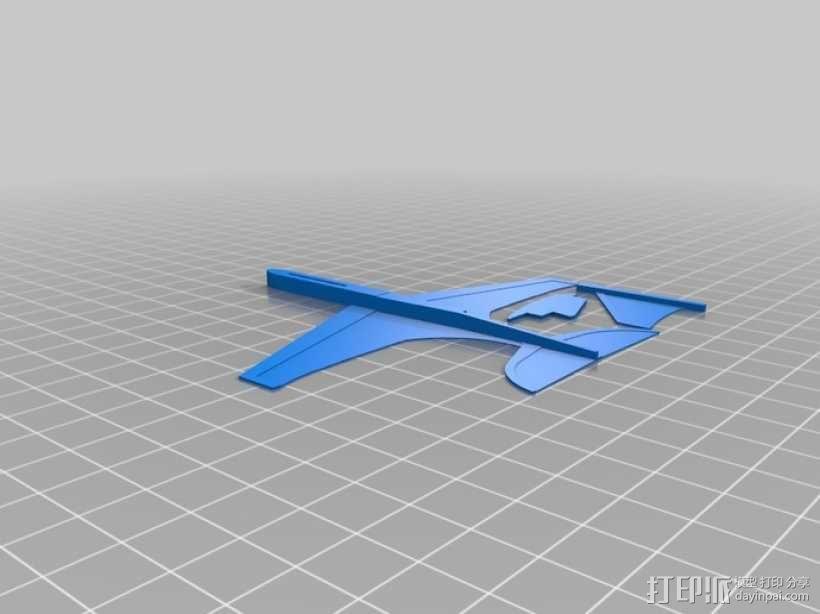 """""""山雀""""滑翔机 3D模型  图7"""