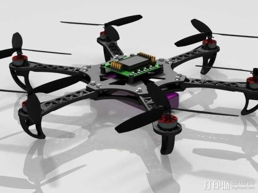 迷你四轴螺旋飞行器 3D模型  图6