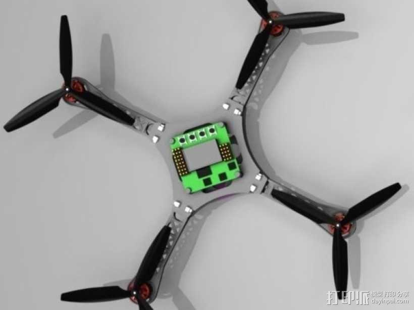 迷你四轴螺旋飞行器 3D模型  图3