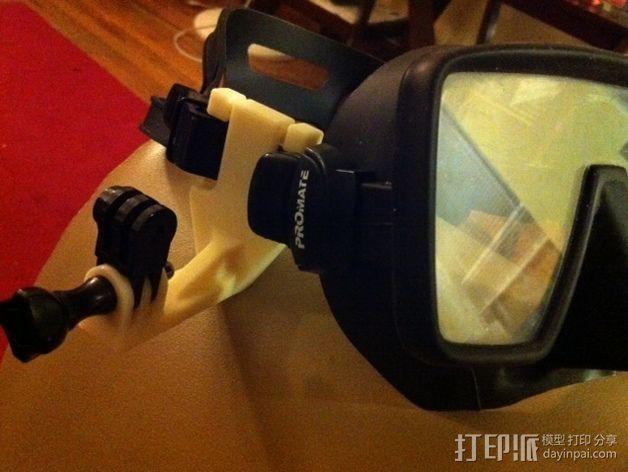 潜水面罩 支架 3D模型  图1
