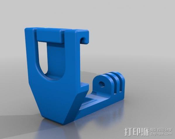 潜水面罩 支架 3D模型  图3
