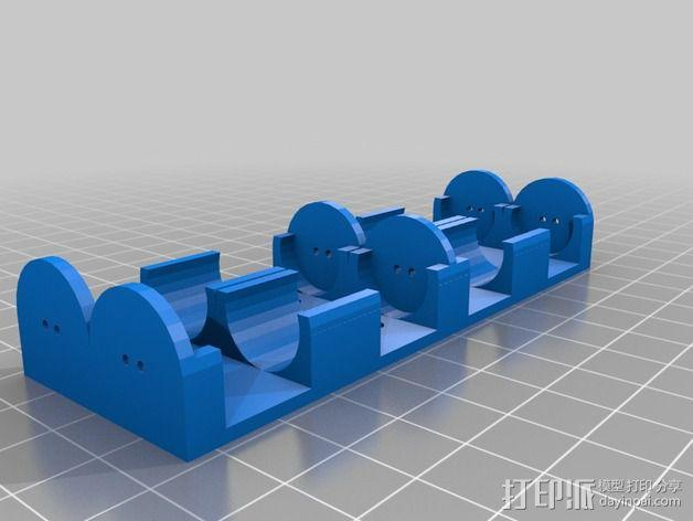 AA电池盒 3D模型  图3