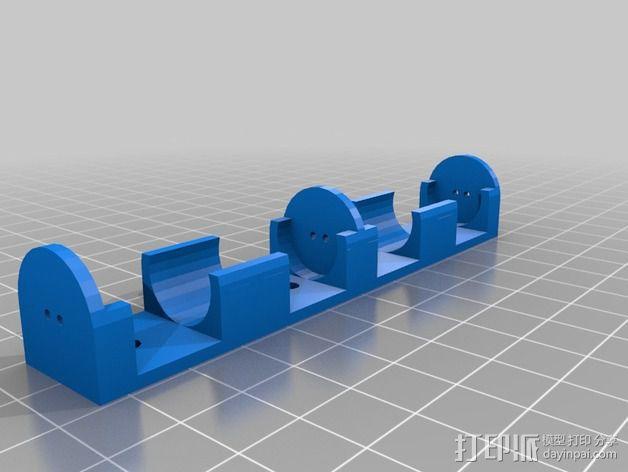 AA电池盒 3D模型  图2