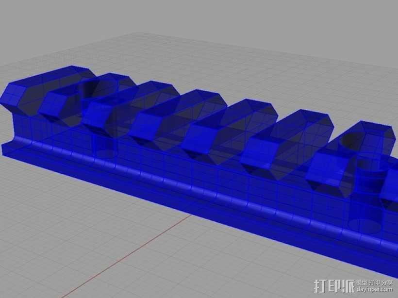 Remington Model 700 皮卡汀尼槽 3D模型  图1