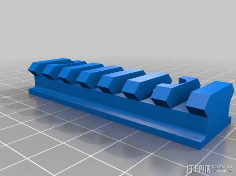 Remington Model 700 皮卡汀尼槽 3D模型  图2