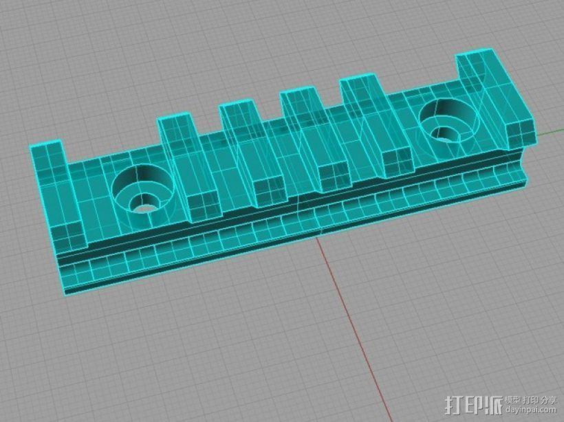 Remington Model 700 皮卡汀尼槽 3D模型  图3