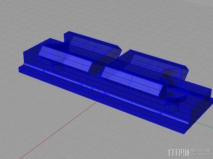 Remington Model 700 皮卡汀尼槽 3D模型  图5