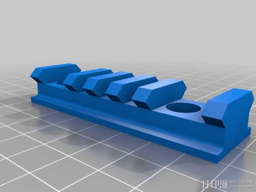 Remington Model 700 皮卡汀尼槽 3D模型  图4