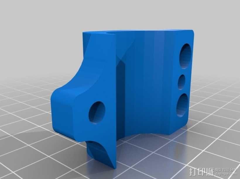 GoPro Wifi Remote自行车固定槽 3D模型  图2