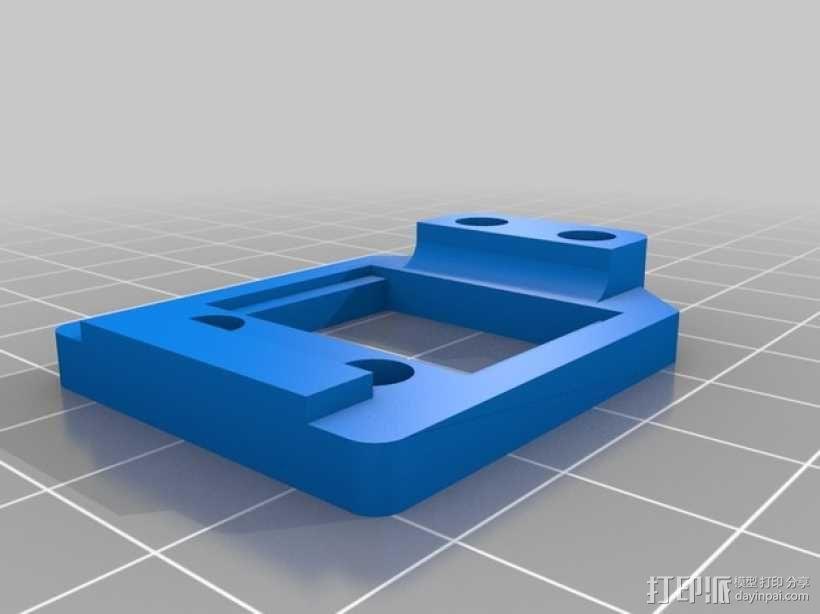 GoPro Wifi Remote自行车固定槽 3D模型  图3