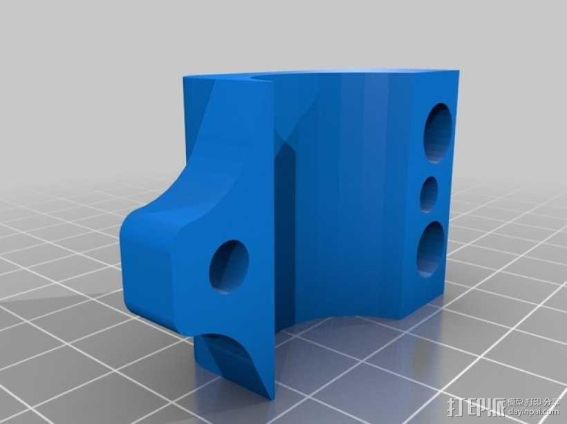 GoPro Wifi Remote自行车固定槽 3D模型  图4
