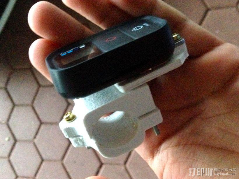 GoPro Wifi Remote自行车固定槽 3D模型  图5
