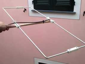 VHF 145 MHz定向天线支架 3D模型